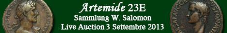 Banner Artemide Aste - Sammlung W. Salomon