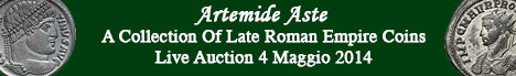 Banner Artemide Aste - A Collection Of Late Roman Empire Coins
