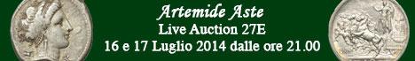 Banner Artemide  - Asta numismatica 27E