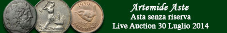 Banner Artemide  - Asta numismatica senza riserva
