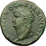 Nero (54-68). AE As, Lugdunum mint