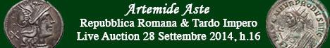 Banner Artemide Aste - Repubblica Romana e Tardo Impero