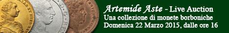 Banner Artemide  - Una Collezione di Monete Borboniche
