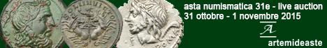 Banner Artemide Aste 31E - Asta di monete e medaglie