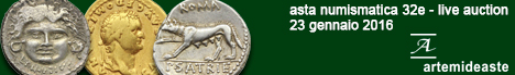 Banner Artemide Aste 32E - asta di monete e medaglie