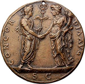 Costantino I (307-337). Medaglia commemorativa. Opus: Cristoforo di Geremia