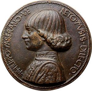 Venezia. Filippo Maserano (XV sec.), poeta lirico. Medaglia. Opus: Boldu Giovanni.