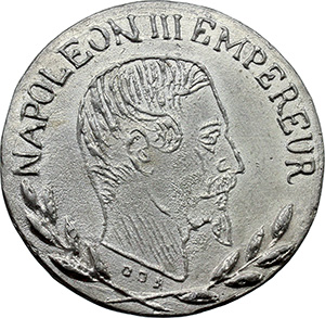 Napoleone III (1852-1870). Medaglia 1853.