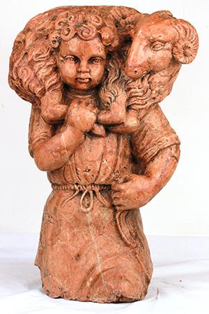 Pastore con montone. Ambito veneto, XVII secolo.