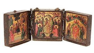 Trittico da viaggio. Serbia, tardo XVI-inizi XVII secolo.