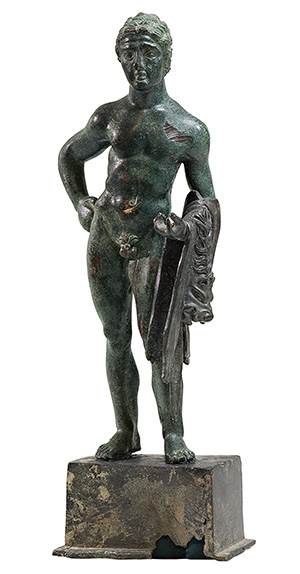 An Etruscan bronze Hercle, circa 3rd century BC.