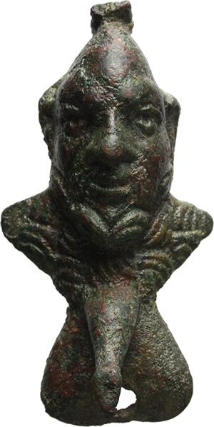 Busto di satiro itifallico. Impero romano, II-III secolo d.C.