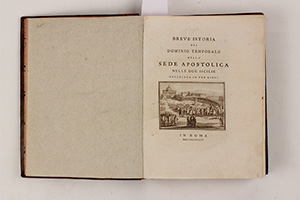 BORGIA, S.  Breve istoria del dominio temporale della Sede Apostolica nelle Due Sicilie descritta in tre libri. In Roma, MDCCLXXXVIII.