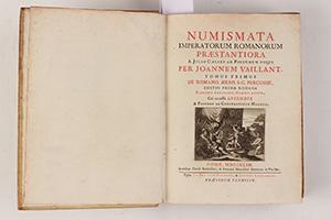 VAILLANT, J.  Numismata Imperatorum Romanorum praestantiora a Julio Caesare ad Postumum usque per Joannem Vaillant.