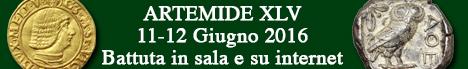 Banner Artemide Aste - Asta Numismatica XLV