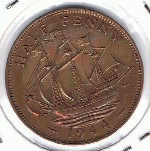 Inghilterra half penny 1944