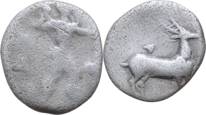 Bruttium, Caulonia   Sesto di nomos, ca. 475-388 a.C. EURO 50