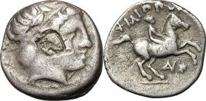 Macedon  Philip II (359-336 BC). AR 1/5 Tetradrachm. EURO 60