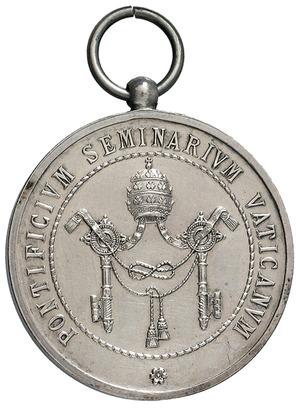 Artemide Aste   Asta XXV: 3047   Pio XII (1939 1958) Medaglia Premio  Pontificio Seminario Vaticano   Dea Moneta