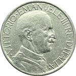 obverse:  Vittorio Emanuele III (1900-1943) 2 lire 1927