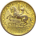 reverse:  Vittorio Emanuele III (1900-1943) Buono da 2 lire 1928 per la Fiera di Milano.