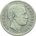 obverse:  Vittorio Emanuele III (1900-1943) Lira 1905.