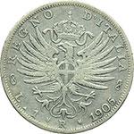 reverse:  Vittorio Emanuele III (1900-1943) Lira 1905.