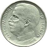 obverse:  Vittorio Emanuele III (1900-1943) 50 centesimi 1924, rigato.