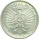 obverse:  Vittorio Emanuele III (1900-1943) 25 centesimi 1903.