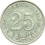 reverse:  Vittorio Emanuele III (1900-1943) 25 centesimi 1903.