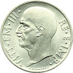 obverse:  Vittorio Emanuele III (1900-1943) 20 centesimi 1936.
