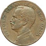 obverse:  Vittorio Emanuele III (1900-1943) 5 centesimi 1913, senza punto.