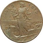 reverse:  Vittorio Emanuele III (1900-1943) 5 centesimi 1913, senza punto.