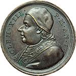 obverse:  Clemente XIII (1758-1769) , Carlo Rezzonico Medaglia annuale, anno I.