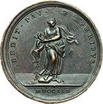 reverse:  Clemente XIII (1758-1769) , Carlo Rezzonico Medaglia annuale, anno I.