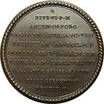 reverse:  Pio VI (1775-1799), Giovanni Angelo Braschi Medaglia 1779.  Forte Urbano