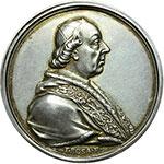 obverse:  Pio VI (1775-1799), Giovanni Angelo Braschi  Medaglia 1782 per il ritorno dal viaggio a Vienna.