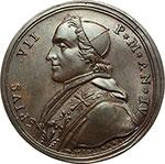 obverse:  Pio VII (1800-1823), Barnaba Chiaramonti Medaglia annuale, anno IV.