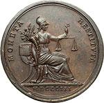 reverse:  Pio VII (1800-1823), Barnaba Chiaramonti Medaglia annuale, anno IV.