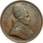 obverse:  Pio VII (1800-1823), Barnaba Chiaramonti Medaglia 1804, per l incoronazione di Napoleone