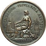 reverse:  Pio VII (1800-1823), Barnaba Chiaramonti Medaglia annuale, anno V.