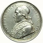 obverse:  Pio VII (1800-1823), Barnaba Chiaramonti Medaglia annuale, A. VIII.