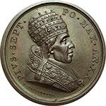 obverse:  Pio VII (1800-1823), Barnaba Chiaramonti Medaglia annuale, anno XX.