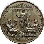 reverse:  Pio VII (1800-1823), Barnaba Chiaramonti Medaglia annuale, anno XX.