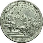 reverse:  Pio VI (1775-1799), Giovanni Angelo Braschi. Medaglia A. XXI, per l ospitalità offerta a Roma dal Pontefice agli ecclesiastici francesi espulsi dalla rivoluzione.