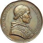 obverse:  Leone XII (1823 - 1829), Annibale Sermattei della Genga Medaglia straordinaria 1825 per la chiusura dell Anno Santo.