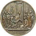 reverse:  Leone XII (1823 - 1829), Annibale Sermattei della Genga Medaglia straordinaria 1825 per la chiusura dell Anno Santo.