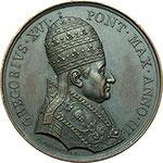 obverse:  Gregorio XVI (1831-1846), Mauro Cappellari  Medaglia annuale, anno III.