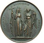reverse:  Gregorio XVI (1831-1846), Mauro Cappellari  Medaglia annuale, anno III.