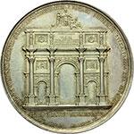 reverse:  Pio IX  (1846-1878), Giovanni Mastai Ferretti Medaglia A. I per l erezione dell arco di trionfo in onore del Papa, l 8 settembre 1846